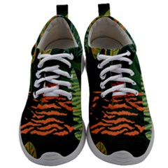 Abstract Seamless Pattern With Tropical Leaves Mens Athletic Shoes