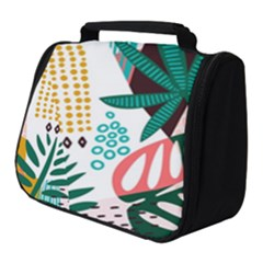 Abstract Seamless Pattern With Tropical Leaves Full Print Travel Pouch (small)