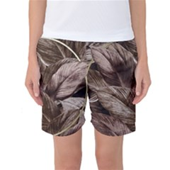 Foliage Circle Card Women s Basketball Shorts