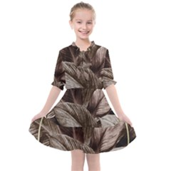 Foliage Circle Card Kids  All Frills Chiffon Dress