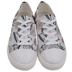 Retro Floral Pattern Women s Low Top Canvas Sneakers