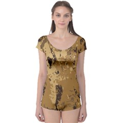 Abstract Grunge Camouflage Background Boyleg Leotard