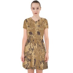 Abstract Grunge Camouflage Background Adorable In Chiffon Dress