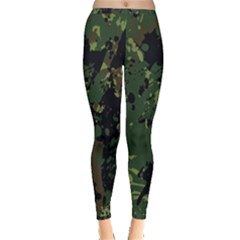 Military Background Grunge Style Inside Out Leggings
