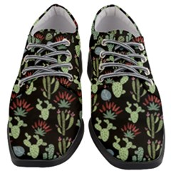 Cute Africa Seamless Pattern Women Heeled Oxford Shoes