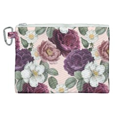Romantic Floral Background Canvas Cosmetic Bag (xl)