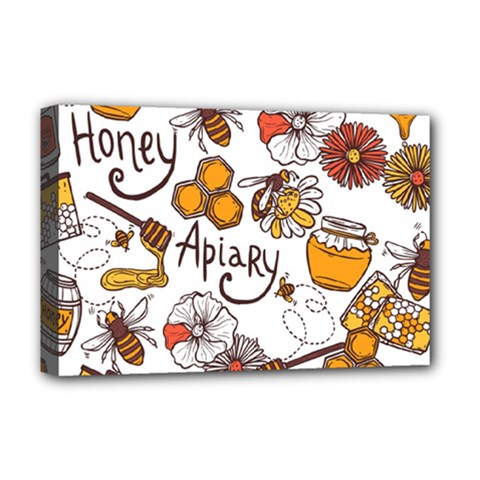 Honey Seamless Pattern Deluxe Canvas 18  X 12  (stretched)