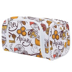 Honey Seamless Pattern Toiletries Pouch by Vaneshart