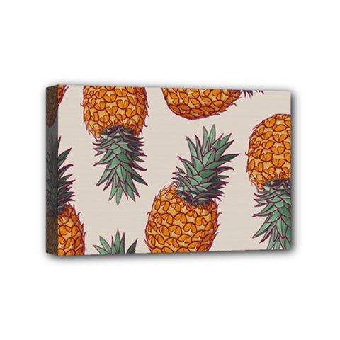 Seamless Pattern With Vector Illustrations Pineapples Mini Canvas 6  X 4  (stretched)