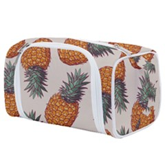 Seamless Pattern With Vector Illustrations Pineapples Toiletries Pouch by Vaneshart
