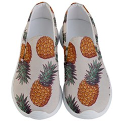 Seamless Pattern With Vector Illustrations Pineapples Men s Lightweight Slip Ons