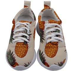 Seamless Pattern With Vector Illustrations Pineapples Kids Athletic Shoes
