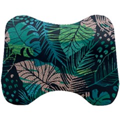 Seamless Abstract Pattern With Tropical Plants Head Support Cushion