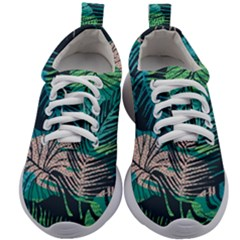 Seamless Abstract Pattern With Tropical Plants Kids Athletic Shoes by Vaneshart