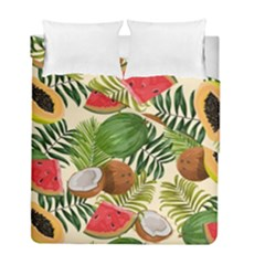 Tropical Pattern Background Duvet Cover Double Side (full/ Double Size)