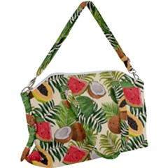 Tropical Pattern Background Canvas Crossbody Bag