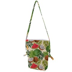 Tropical Pattern Background Folding Shoulder Bag