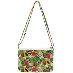 Tropical Pattern Background Double Gusset Crossbody Bag