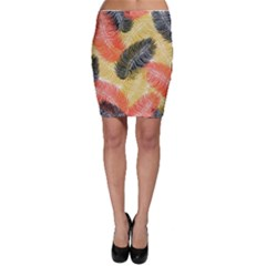 Tropical Seamless Pattern With Exotic Palm Leaves Bodycon Skirt