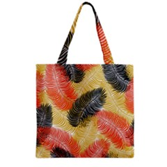 Tropical Seamless Pattern With Exotic Palm Leaves Grocery Tote Bag by Vaneshart