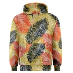 Tropical Seamless Pattern With Exotic Palm Leaves Men s Pullover Hoodie