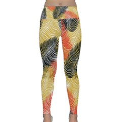 Tropical Seamless Pattern With Exotic Palm Leaves Lightweight Velour Classic Yoga Leggings