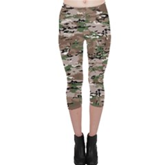 Fabric Camo Protective Capri Leggings