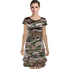 Fabric Camo Protective Cap Sleeve Nightdress