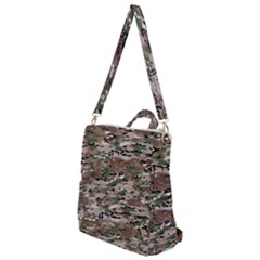 Fabric Camo Protective Crossbody Backpack