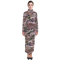 Fabric Camo Protective Turtleneck Maxi Dress