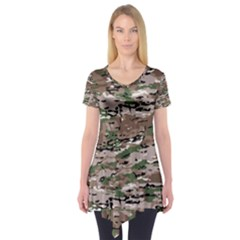Fabric Camo Protective Short Sleeve Tunic