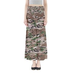 Fabric Camo Protective Full Length Maxi Skirt