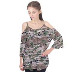 Fabric Camo Protective Flutter Tees