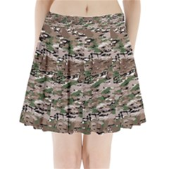 Fabric Camo Protective Pleated Mini Skirt