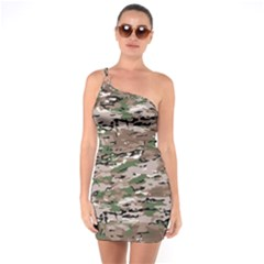 Fabric Camo Protective One Soulder Bodycon Dress