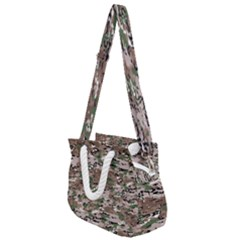 Fabric Camo Protective Rope Handles Shoulder Strap Bag