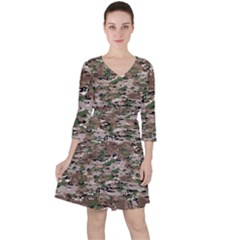Fabric Camo Protective Ruffle Dress