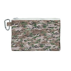 Fabric Camo Protective Canvas Cosmetic Bag (medium)