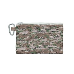 Fabric Camo Protective Canvas Cosmetic Bag (small)