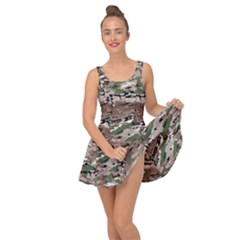 Fabric Camo Protective Inside Out Casual Dress