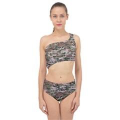 Fabric Camo Protective Spliced Up Two Piece Swimsuit