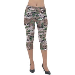 Fabric Camo Protective Lightweight Velour Capri Leggings