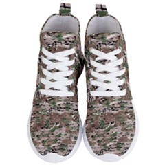 Fabric Camo Protective Women s Lightweight High Top Sneakers