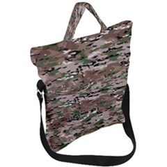 Fabric Camo Protective Fold Over Handle Tote Bag