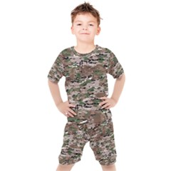 Fabric Camo Protective Kids  Tee And Shorts Set