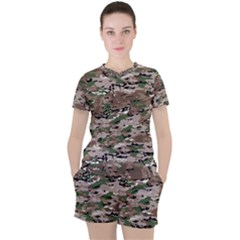 Fabric Camo Protective Women s Tee And Shorts Set