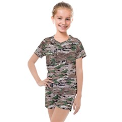 Fabric Camo Protective Kids  Mesh Tee And Shorts Set