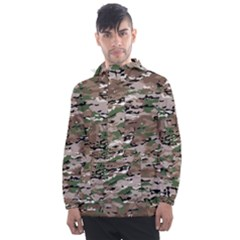 Fabric Camo Protective Men s Front Pocket Pullover Windbreaker