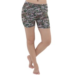 Fabric Camo Protective Lightweight Velour Yoga Shorts
