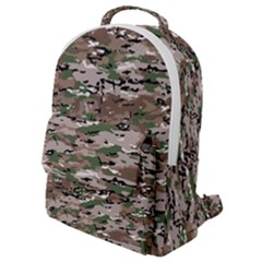 Fabric Camo Protective Flap Pocket Backpack (small)